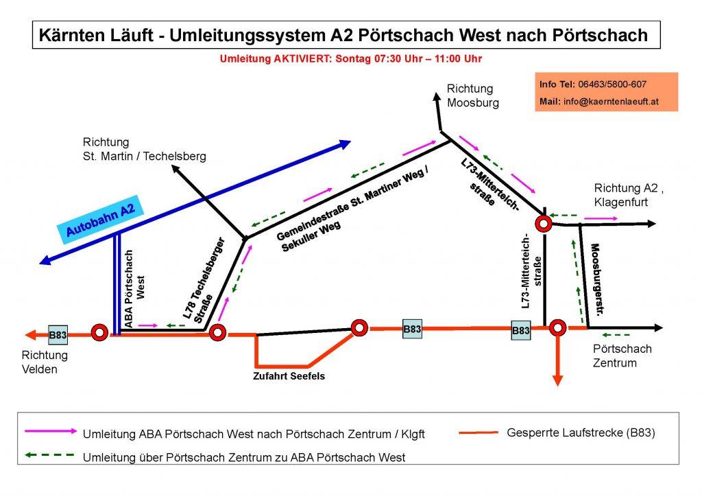 Sperren und Umleitungen Pörtschach A2 West_050816